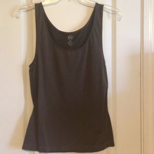 Cato stretchy tank top in mocha/brown